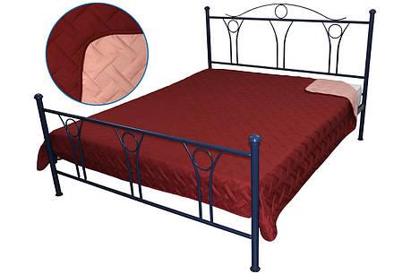 Покрывало на кровать, диван бордовое 212х240 двустороннее, фото 2