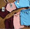 Яркая женская пижама с топом и шортиками, фото 2