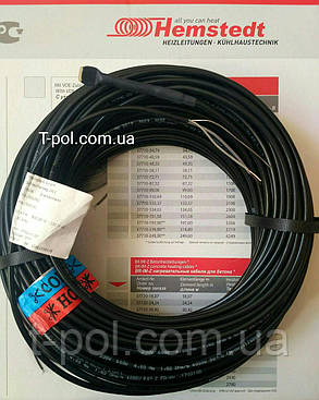 Нагревательный тонкий кабель dr hemstedt 150вт 12,1м теплый пол на 1 м2, фото 2