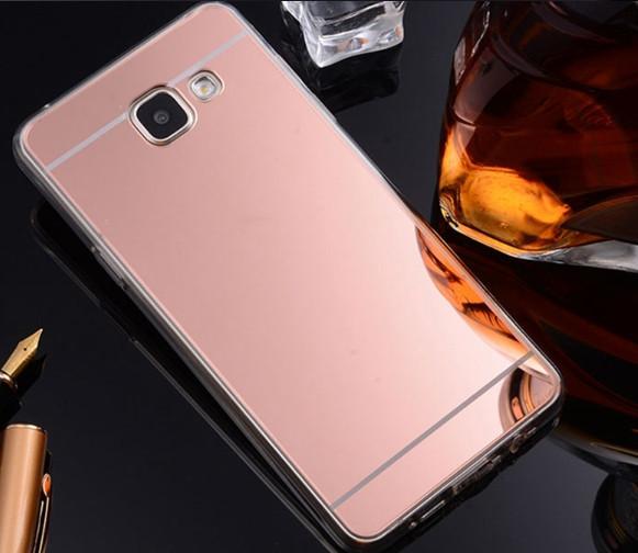 Зеркальный силиконовый чехол для Samsung Galaxy J7/J700(2015)