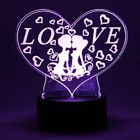3D светильник в форме сердца Love 1110