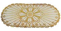 Овальная салфетка с золотым декором 83х40 см, Скатерти и салфетки, Скатертини і серветки, Овальна серветка з золотим декором 83х40 см