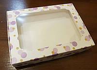 Коробка для пряников Шарики 3шт (15*20*3)см Лиловые