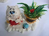 Сувенирная фигурка Кот с корзинкой
