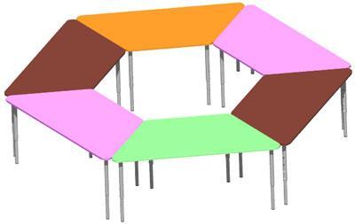 Стол регулируемый Design Service Трапеция (1171)