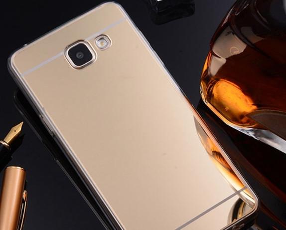 Зеркальный силиконовый чехол для Samsung Galaxy A7/A720 (2017)