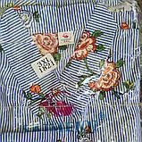 Туника- халат на пуговицах,штапель, фото 7