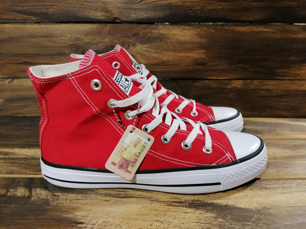 Кеды мужские  конверс красные летние (реплика) Converse Red