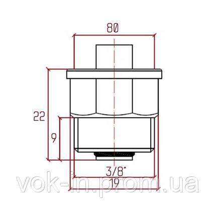 """Клапан для воздухоотводчика 3/8 """"Icma"""" №710, фото 2"""