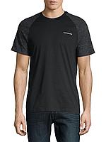Мужская хлопковая черная футболка  Calvin Klein Jeans