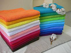 Махровые полотенца Турция без бордюра цветные