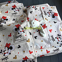 Постельный набор в детскую кроватку (3 предмета) Мики маус