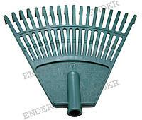 Грабли пластиковые, 18 зубцов, без ручки