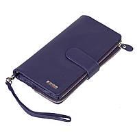 Женский кошелек клатч BUTUN 022-004-010 кожаный фиолетовый, фото 1