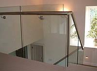Перила из стекла в офисном здании, фото 1