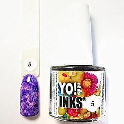 Акварельные чернила Yo!Nails INKS 5 ( фиолетовый цвет)