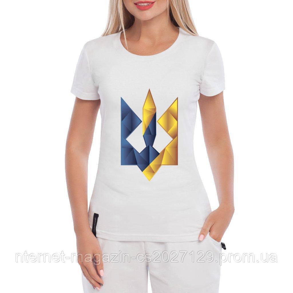 Футболка женская тризуб Цветной Герб
