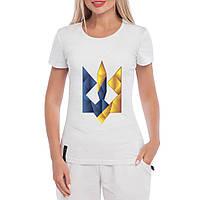 Футболка женская тризуб Цветной Герб, фото 1
