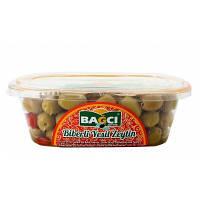Турецкие оливки фаршированные перцем зеленые 400 г Bagci