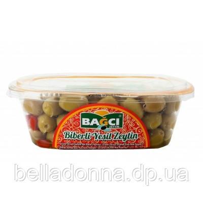 Оливки фаршированные перцем зеленые 400 г Bagci (Турция)