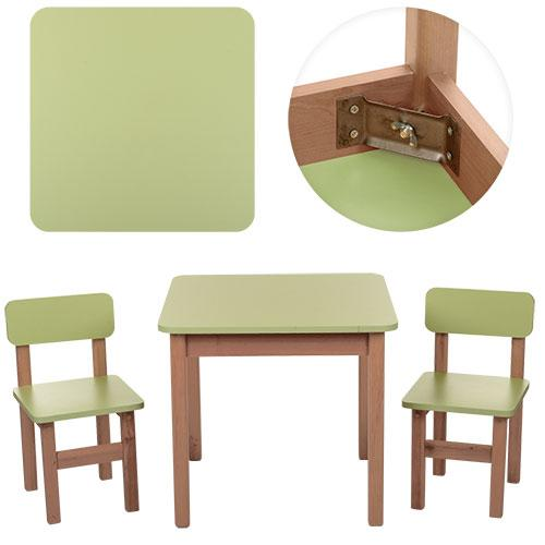 """*Набор мебели - стол и 2 стульчика """"Эко"""" Украина САЛАТОВЫЙ арт. 091 , фото 1"""