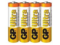 Батарейка GP ULTRA ALKALINE 1.5V 15AU-2DP40 LR6, AA (4шт сп.), Аккумуляторы и батарейки