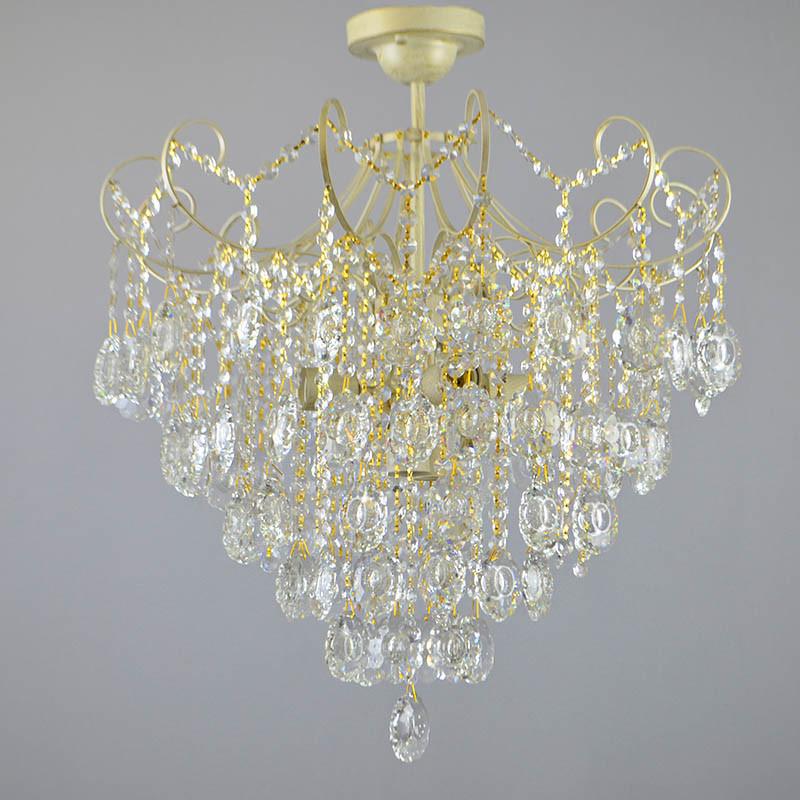 Люстра потолочная на шесть лампочек 3-E1214/6 хрустальная