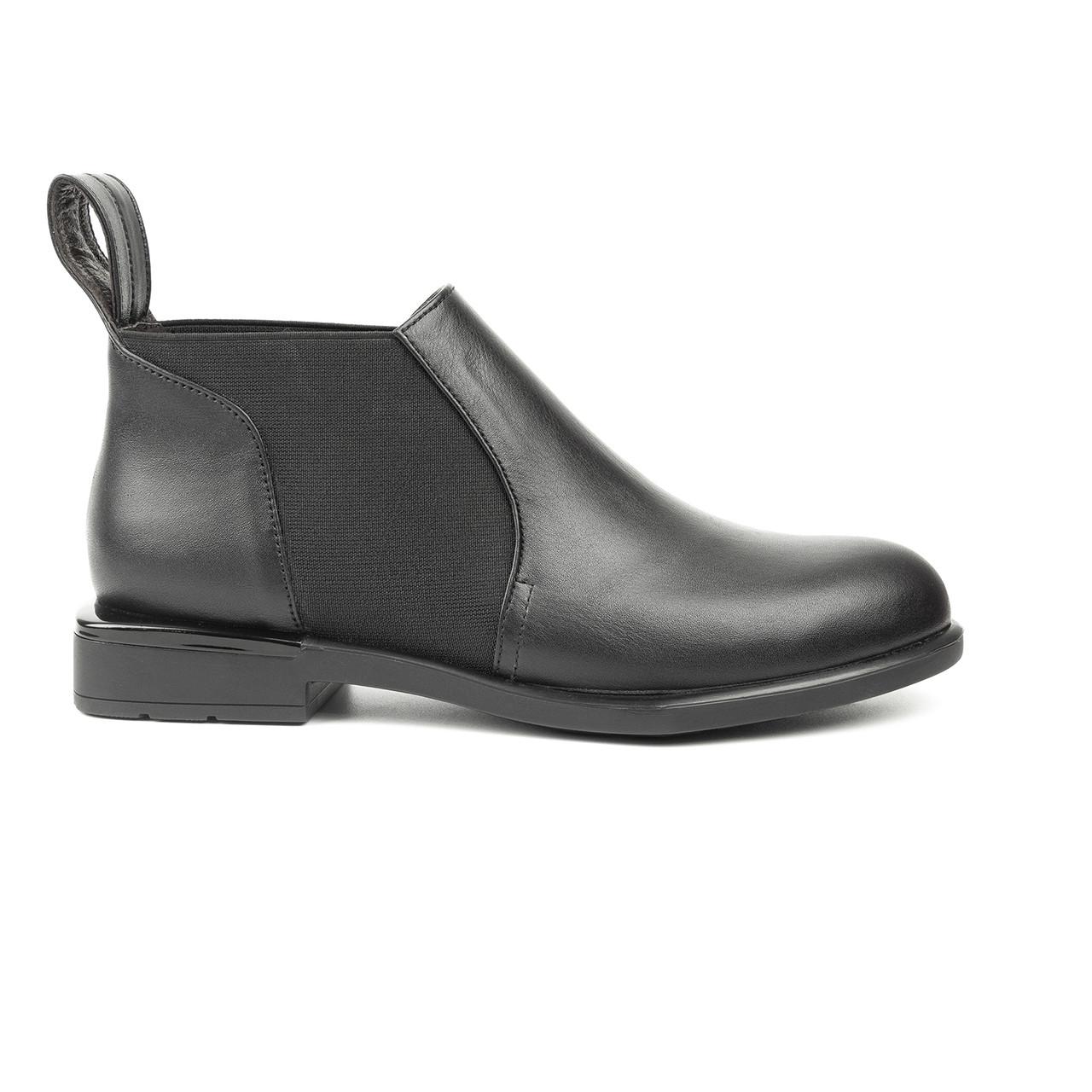 Ботинки женские Woman's heel черные (О-857)