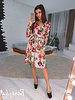 Цветочное платье на запах VL5168 S/M. Размер 42-44.