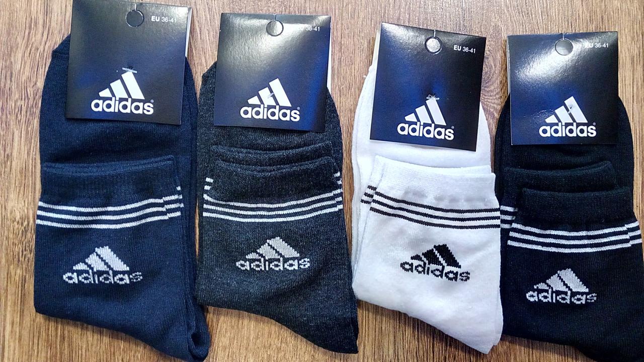 """Жіночі стрейч.шкарпетки в стилі """"Adidas A""""Туреччина(36-41),високі"""
