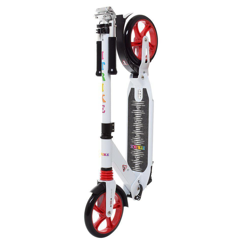 Городской самокат для взрослых Scooter iTrike SR 2-024-2, белый с красными колесами