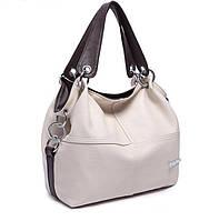 Практичная Женская кожаная сумка WeidiPolo Бежевая, Черная, Коричневая