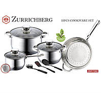 Zurrichberg Набор посуды из 10 предметов ZBP / 7080 кухонный набор нержавеющая сталь
