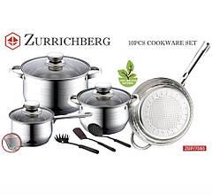 Zurrichberg Набір посуду 10 предметів ZBP / 7080 кухонний набір нержавіюча сталь