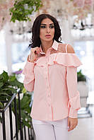 Рубашка женская молодежная АНД371 пудра, фото 1