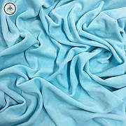 Велюр х/б голубой, ширина 180 см
