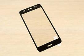 Защитное стекло Silk Screen для Huawei Y3 2017 тех.пакет (Black)
