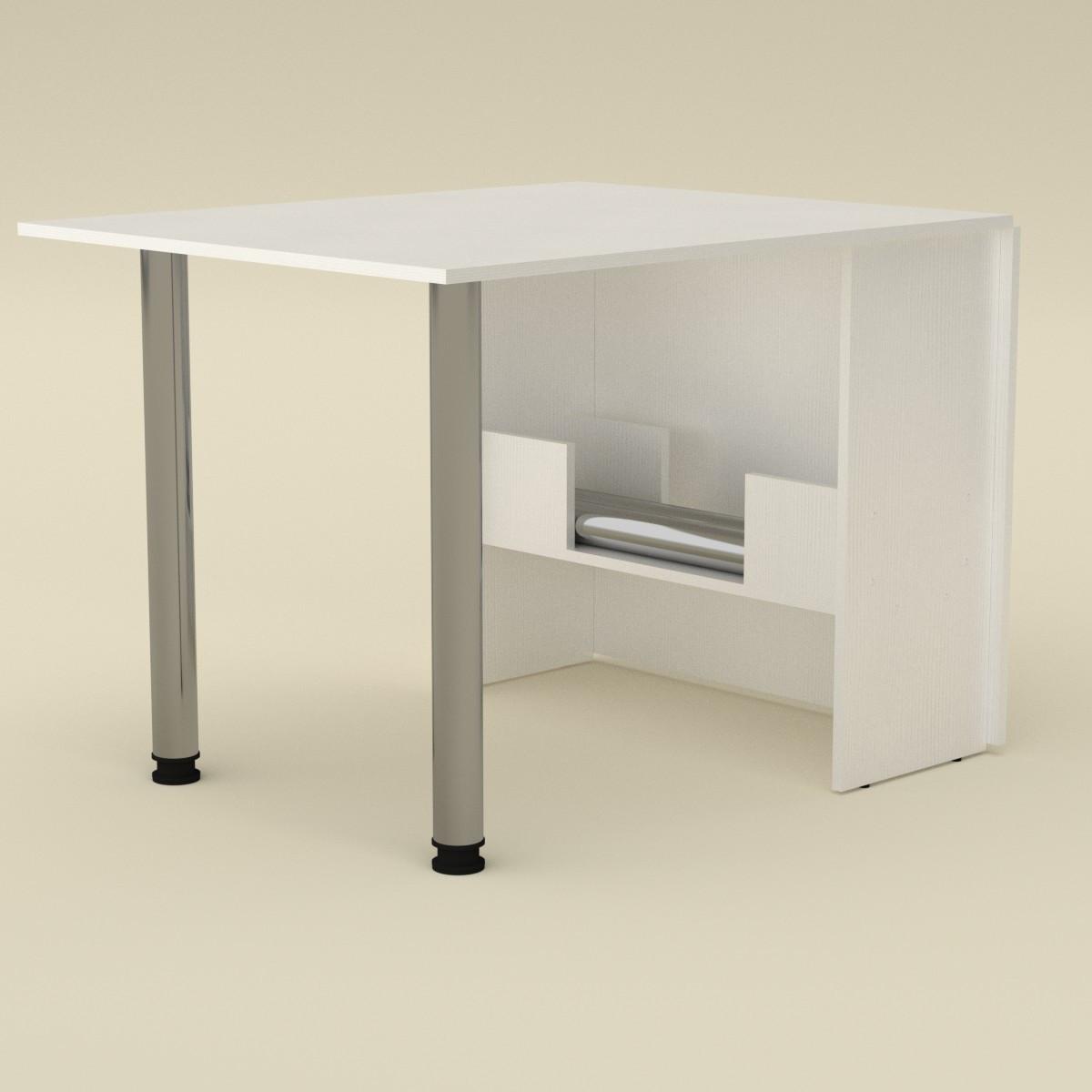Стол книжка 2 нимфея альба (белый) Компанит (170х81х73 см)
