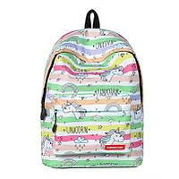 Школьный рюкзак с единорогом Unicorn lime
