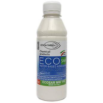 Латексний Клей ECOSAR MW116 для шкіри, шкірозамінника, тканини, замші, без запаху (Італія, 0,25 л)