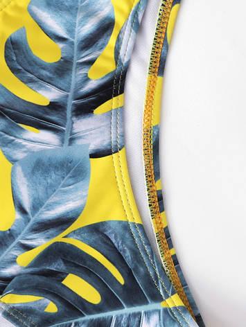 Купальник раздельный бикини мягкая чашка с вкладышем плавки слип жёлтый-129-281, фото 2