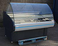 Холодильная витрина охлаждаемая «Двина» 1.6 м. (Белурась), широкая выкладка 78 см, Б/у, фото 1