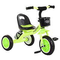 Детский трехколесный велосипед M 3197-M-2 с корзиной, салатовый