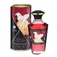 Согревающее масло для интимных поцелуев, клубника, Shunga, 100 мл