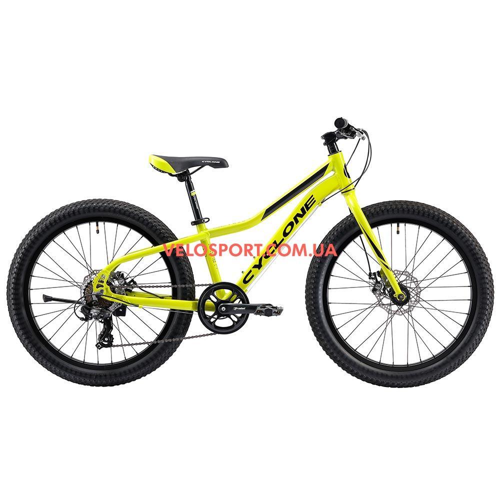 Подростковый велосипед Cyclone Ultima 3.0 24 дюйма зеленый