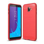 Чехол силиконовый TPU на Samsung J6+ Plus J610 красный