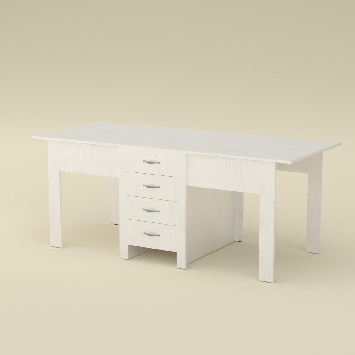 Стол книжка 3 белый Компанит (190х53х75 см)