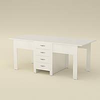 Стол книжка 3 белый Компанит (190х53х75 см), фото 1