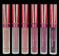 LA Splash Velvet Matte Liquid Lipstick жидкие матовые губные помады