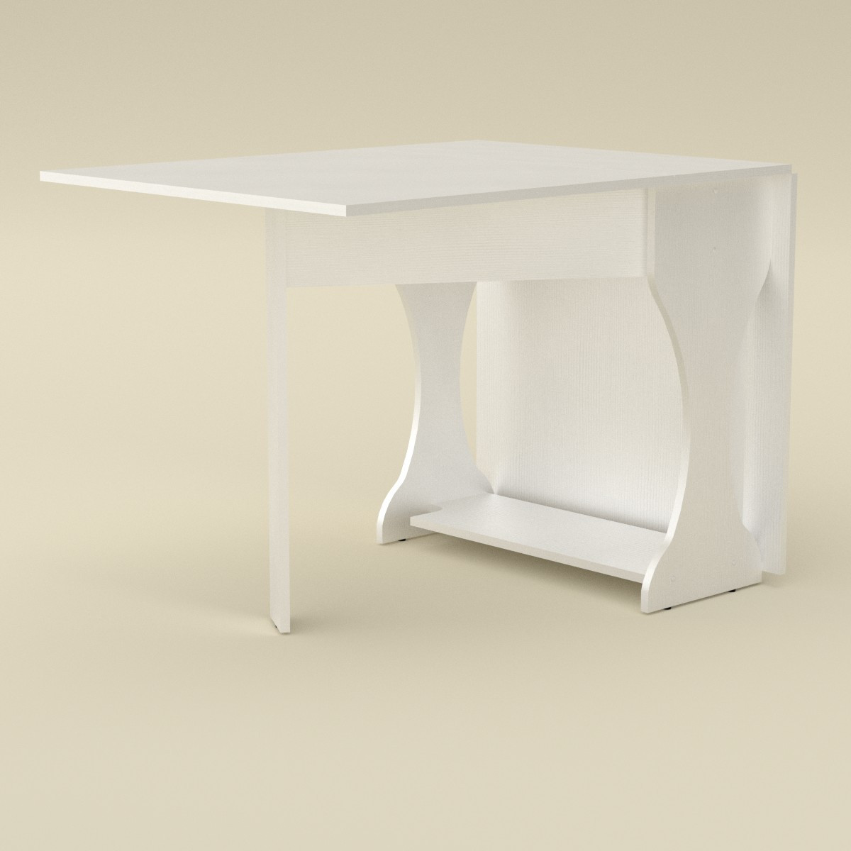 Стол книжка 4 белый Компанит (170х76х74 см)